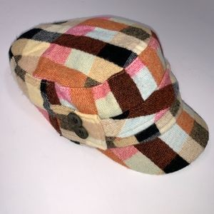 Newsboy Style Women's Pink Plaid D&Y Hat